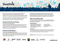 Download SweFolk One Pager with offfer to sponsors